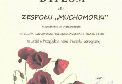 Obrazek galerii Muchomorki na Przeglądzie Pieśni Patriotycznej