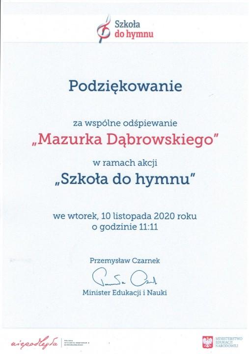 """Obrazek newsa Akcja """"Szkoła do hymnu"""""""